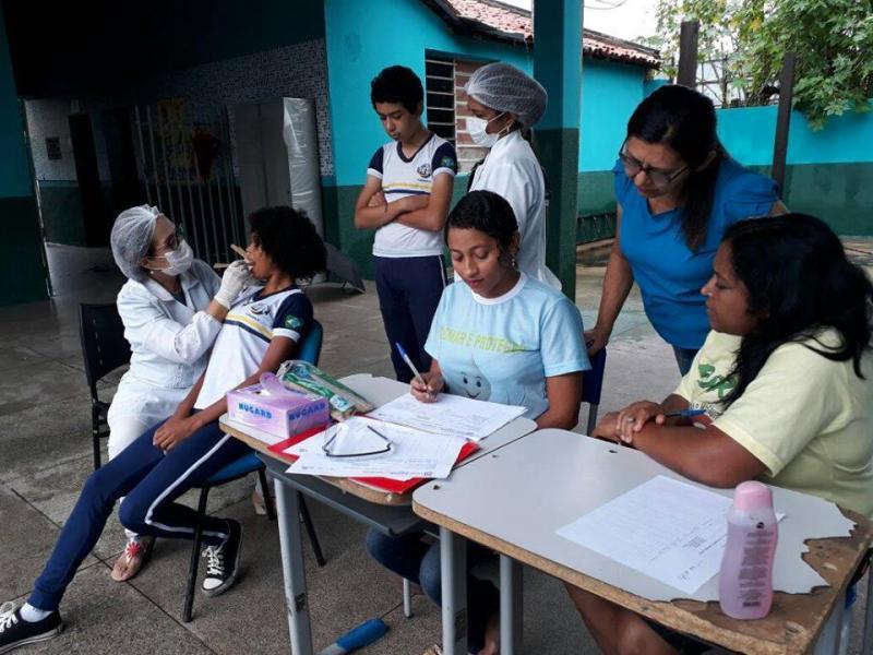 Coordenadoria de Saúde Bucal realiza ação preventiva nas Redes Municipal e Estadual de Ensino