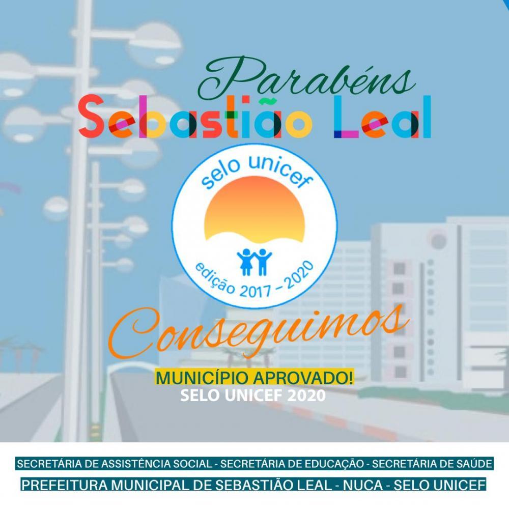 SEBASTIÃO CONQUISTA SELO UNICEF