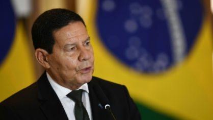 vice-presidente Hamilton Mourão (Crédito: AFP)