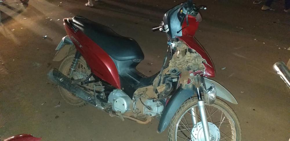 Acidente entre moto e bicicleta deixa dois feridos em Sucupira do Norte