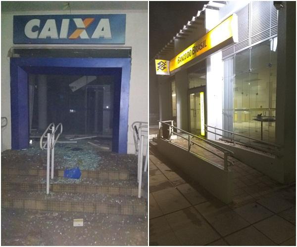 Quadrilha fortemente armada explode agências bancárias no Piauí