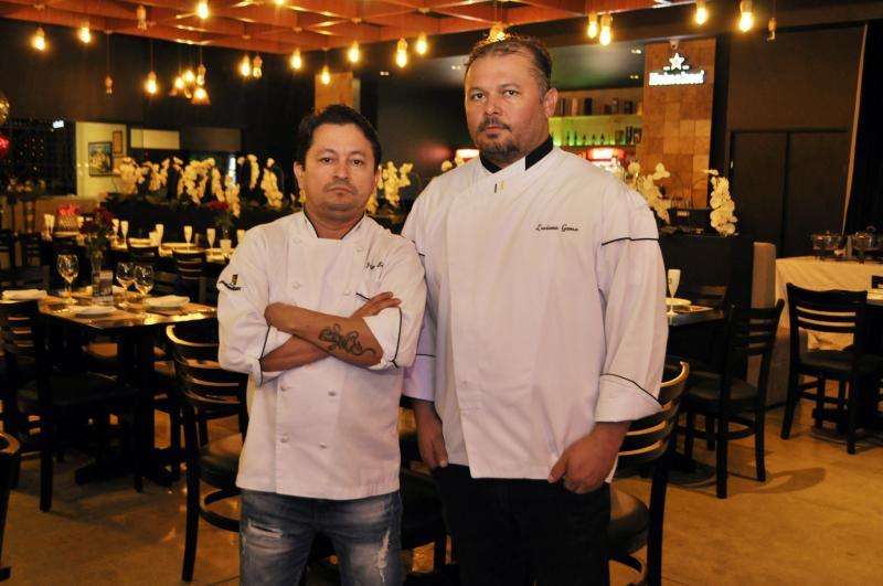 Pratos elaborados pelos chefs Luciano Gama e Júnior Belém