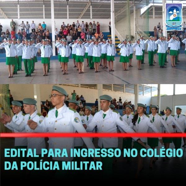 Estão abertas inscrições para o Colégio da Polícia Militar do Piauí
