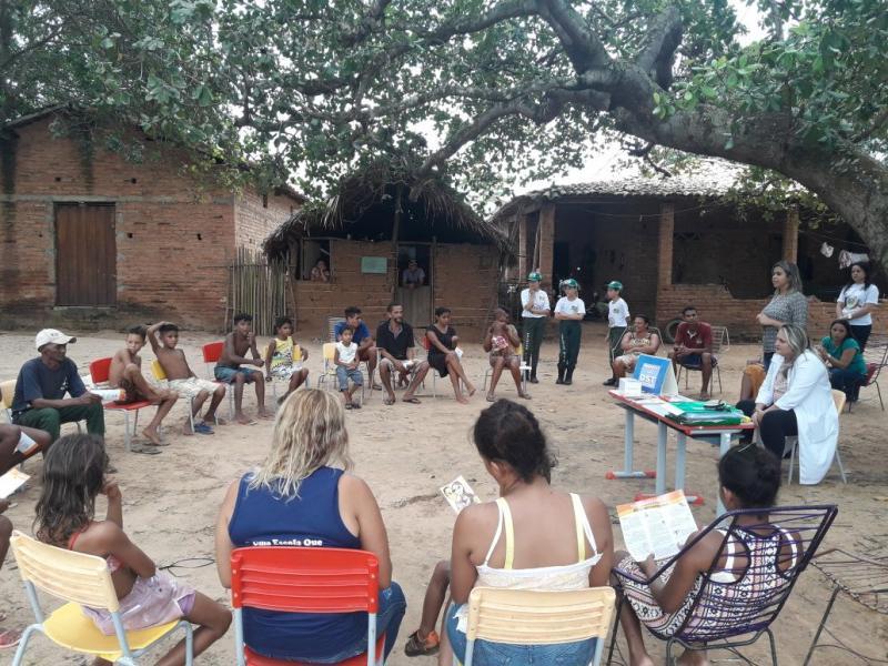 Cras e CadÚnico de Olho D'água  realizam ação social na localidade Cotias