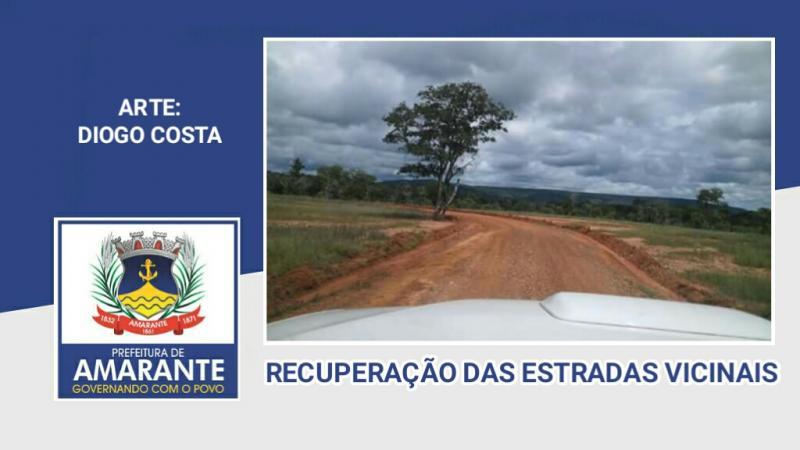 Prefeito Diego Teixeira recupera estradas na zona rural de Amarante