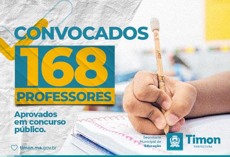 Prefeitura de Timon convoca 168 professores aprovados em concurso público