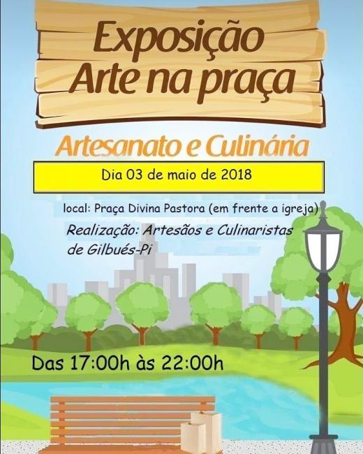 5º Exposição Arte na Praça em Gilbués Piaui, dia 03 de maio 2018