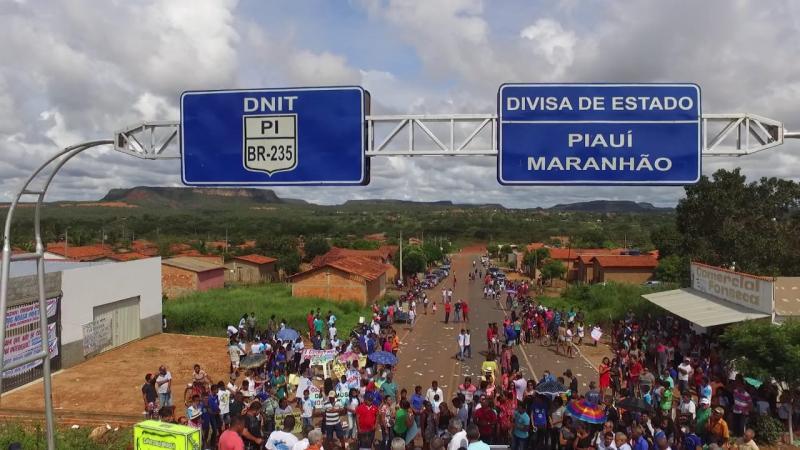 """Mobilização """"Queremos Nossa Ponte"""" atrai centenas de pessoas em Santa Filomena Piauí"""