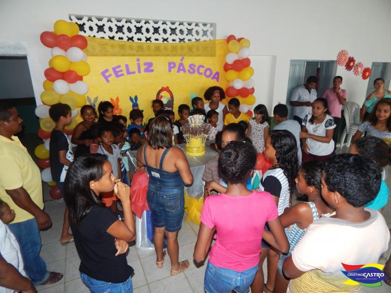 Assistência Social realizou festa de Páscoa para crianças do SCFV