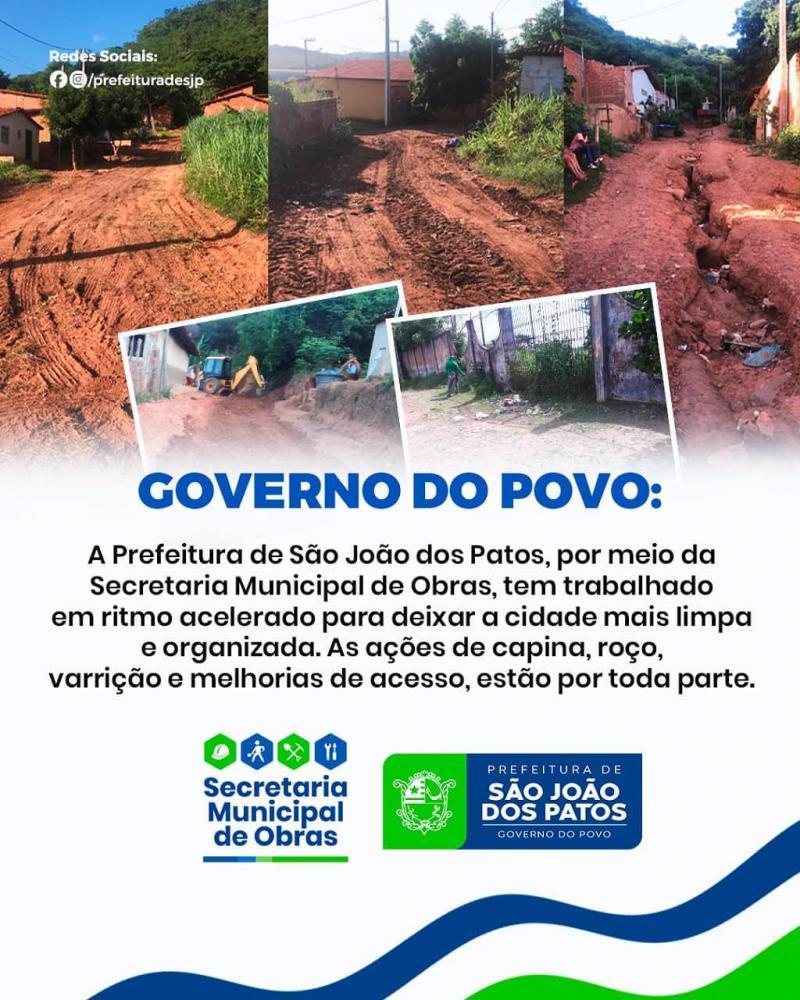 Prefeitura intensifica o trabalho de limpeza e recuperação de estradas