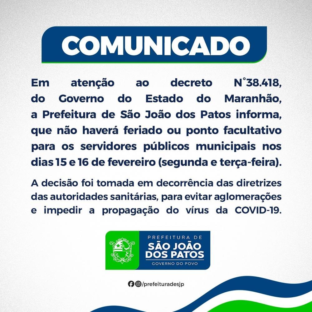 Prefeitura informa que não haverá feriado ou ponto facultativo de carnaval