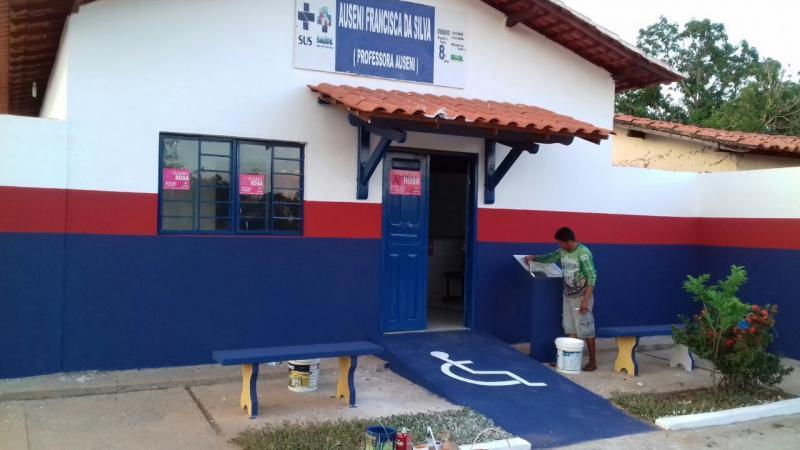 Prefeitura de Agricolândia conclui reforma de posto de saúde da localidade Buraco Dágua