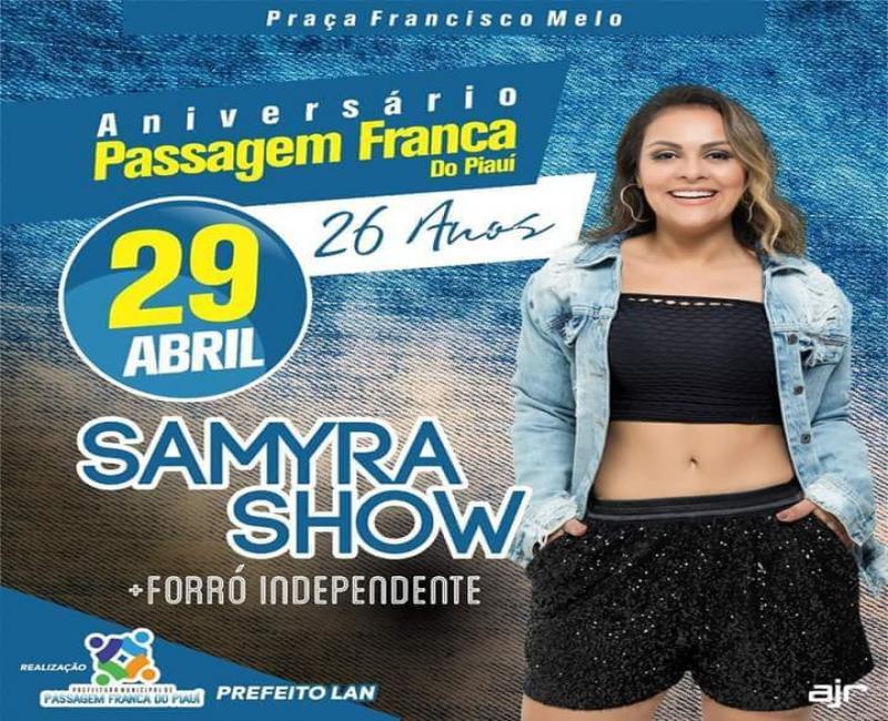 Aniversário de 26 anos do município de Passagem Franca do Piauí