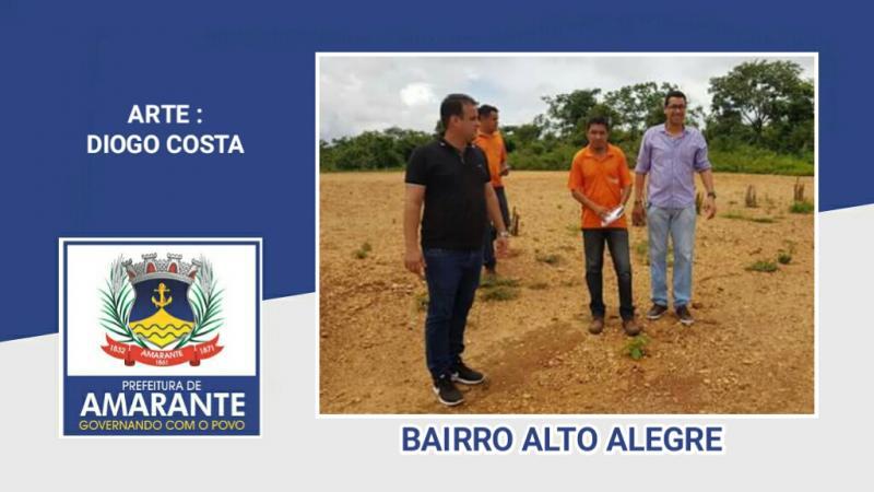 Prefeito Diego Teixeira levando qualidade de vida ao bairro Alto Alegre