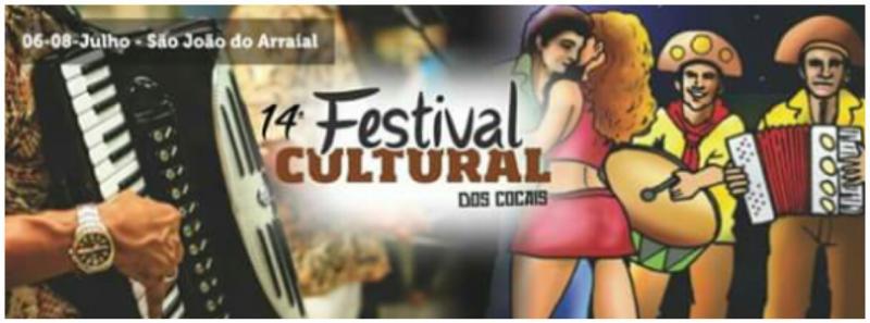 XIV Festival Cultural dos Cocais acontecerá de 06 a 08 de Julho, em São João do Arraial