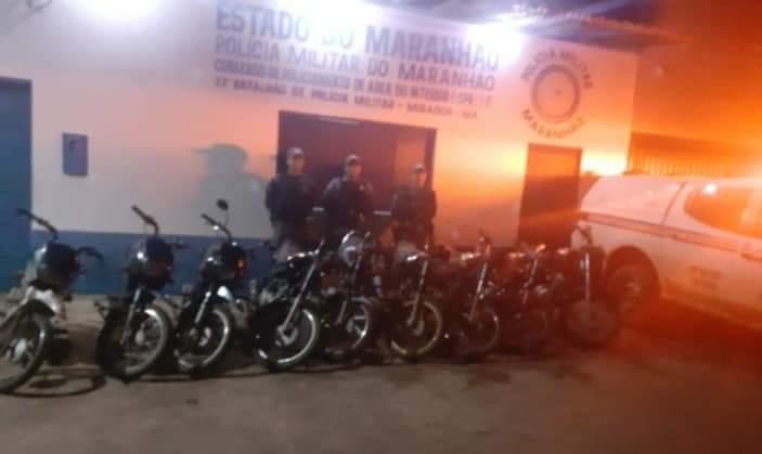4° pelotão de Mirador recupera motocicletas com registro de roubo e furto