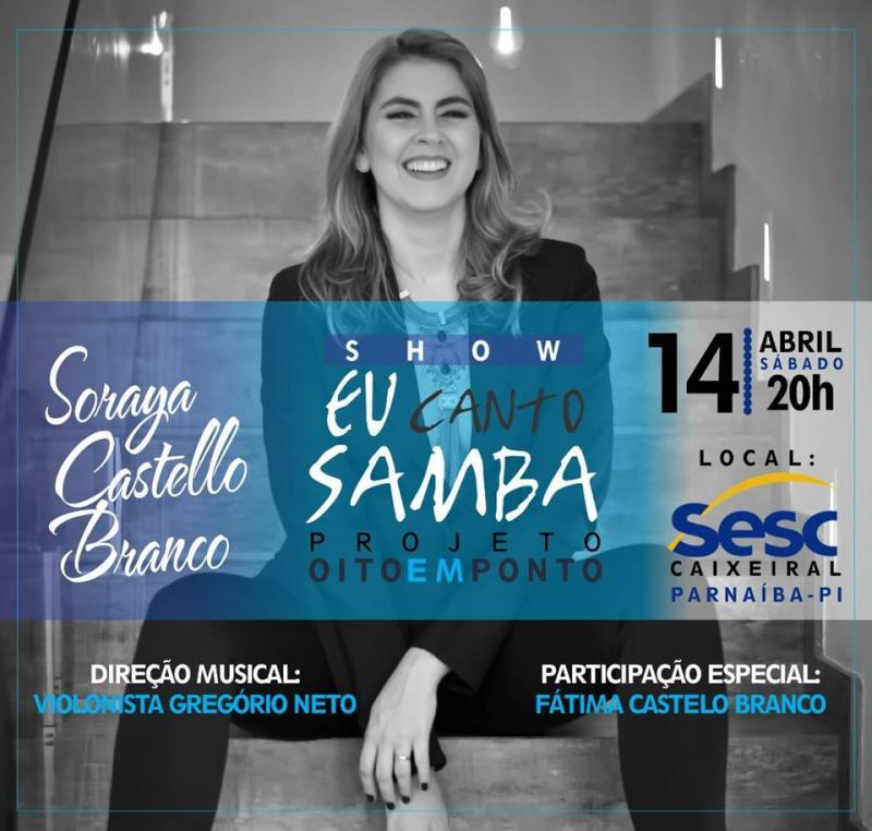Soraya Castello Branco no Projeto Oito em Ponto, promovido pelo Sesc Caixeiral em Parnaíba