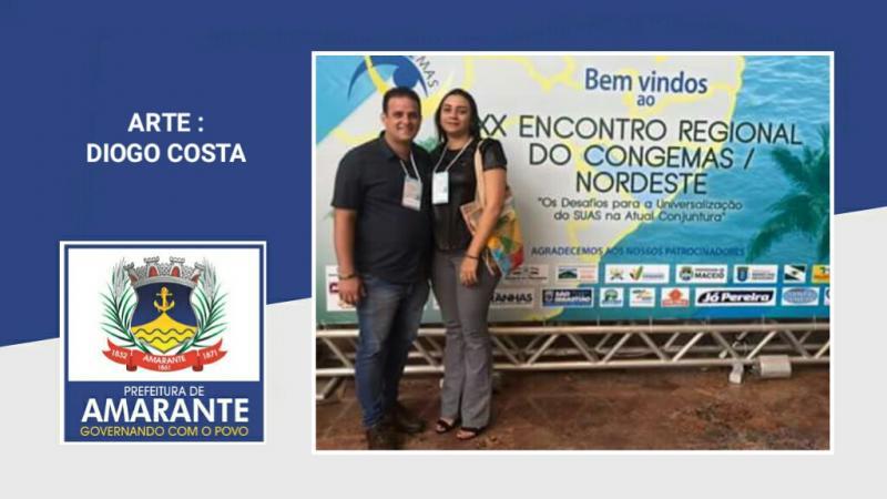 Ana Tércia e Diego Teixeira estão participando do Encontro Regional do Congemas