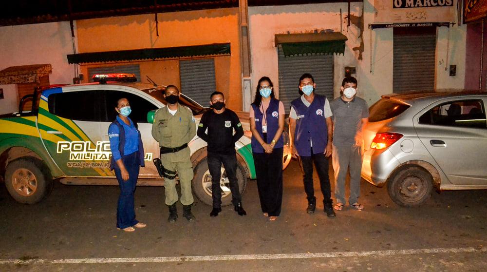 Vigilância Sanitária Municipal e GPM.