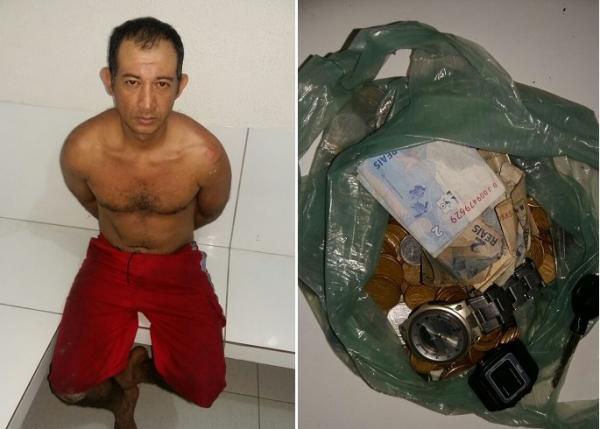 Homem é preso em telhado de lanchonete após furto em Água Branca