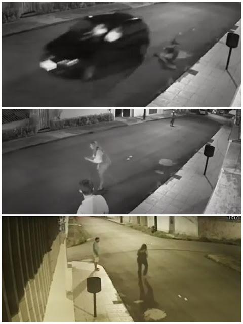 Vídeos: Coronel PM-MA pula de carro para escapar de assaltantes