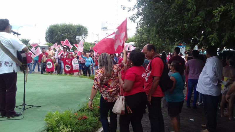 Demerval Lobão | confira imagens do 'Ato em defesa da democracia e da liberdade de Lula'