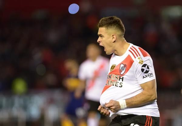 São Paulo teve interesse em Borré, do River Plate — Foto: Pablo Stefanec /Reuters