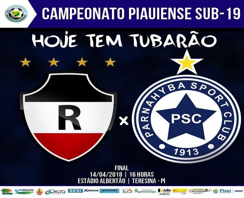 Parnahyba enfrenta o River-PI na final do Campeonato Piauiense Sub-19