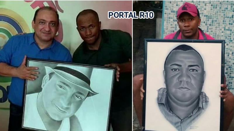 Francisco Nunes desenha rostos e recebe encomendas no Piauí