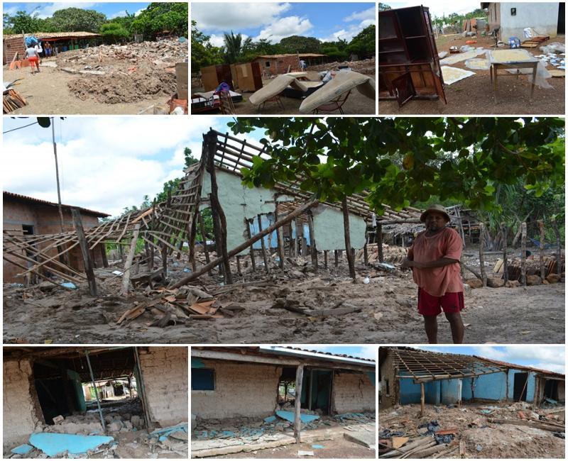 Mais de 200 famílias já foram afetadas pelas enchentes em Cabeceiras do Piauí