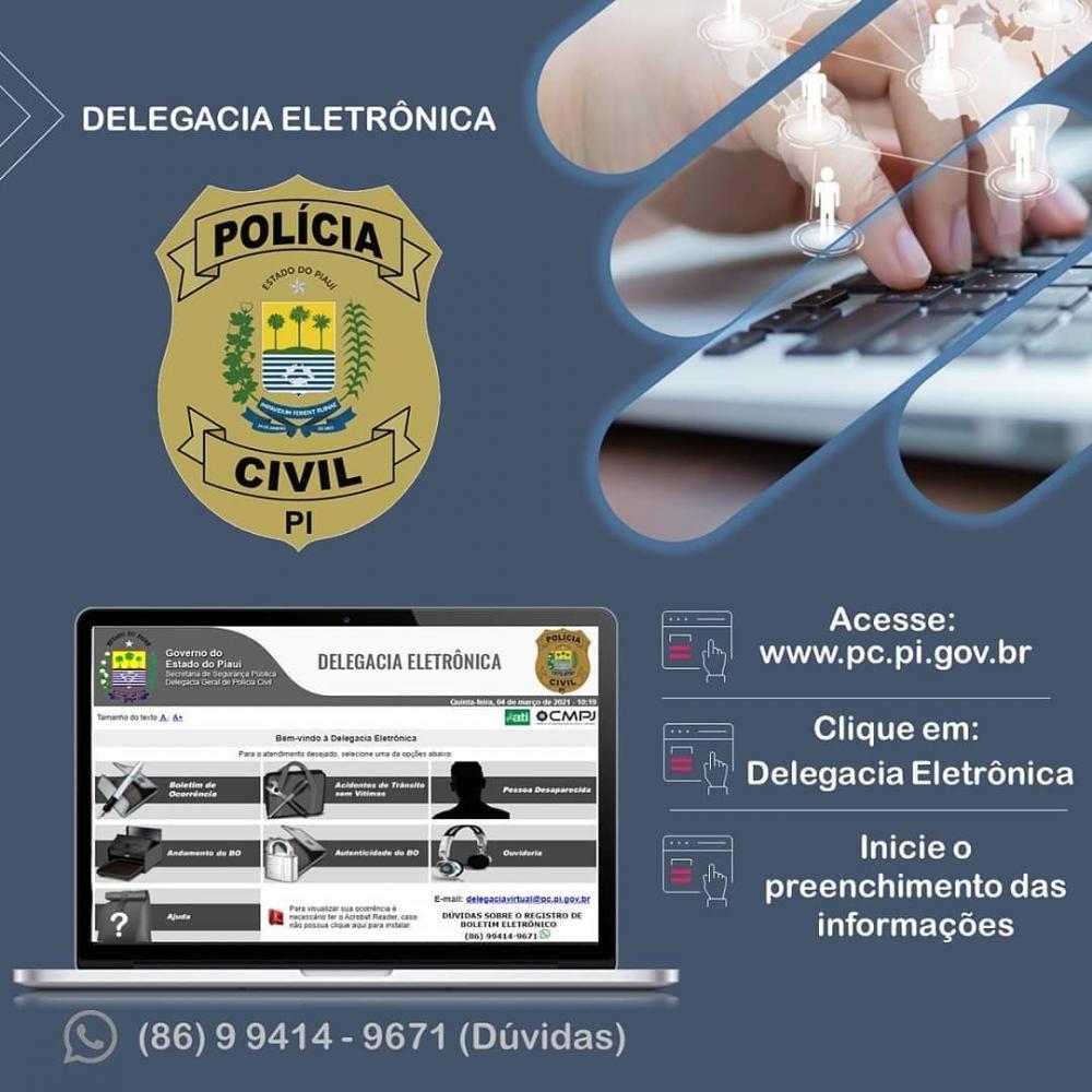 Prioridades no atendimento eletrônico da Polícia Civil nas ocorrências