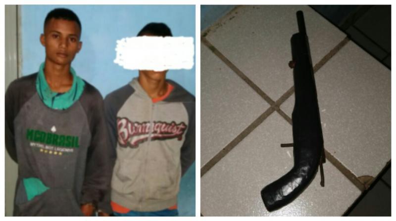 Dupla é presa portando arma de fogo em São João do Arraial