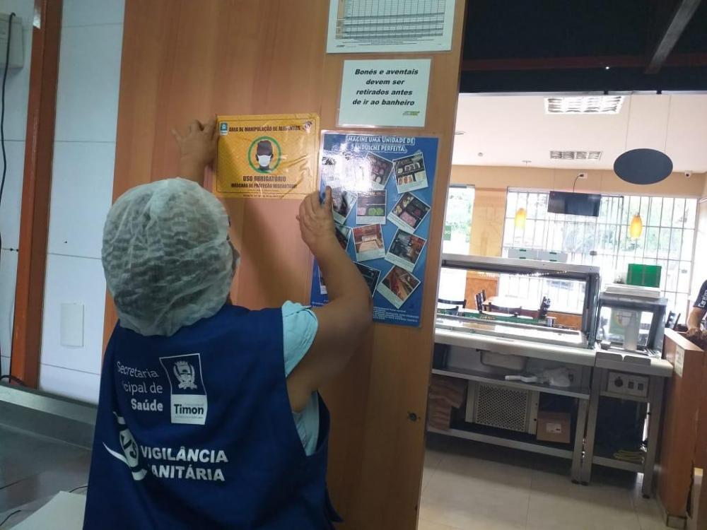 Vigilância Sanitária faz blitz em pontos de alimentação sobre uso de EPIs