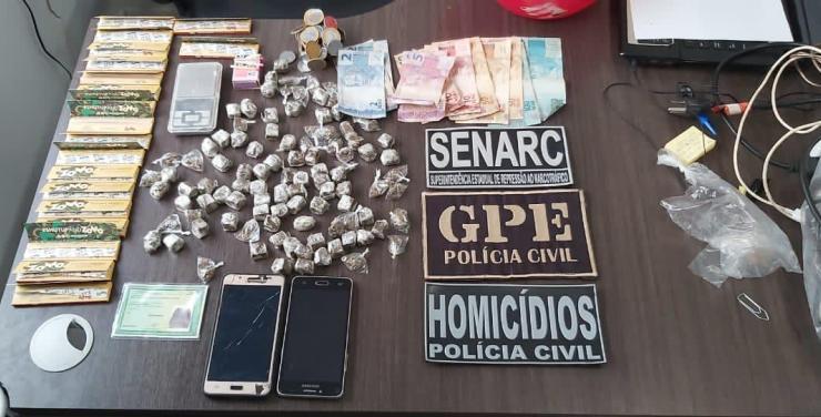 Polícia Civil/Timon prende casal acusado de tráfico no 'Bela Vista'