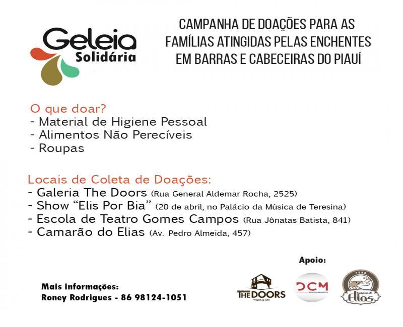 Campanha de doações para as famílias atingidas pelas enchentes em Barras e Cabeceiras do Piauí