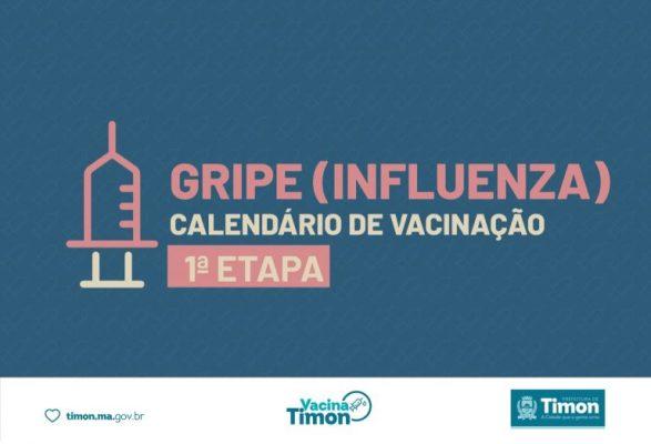 Timon inicia Vacinação contra a Gripe nesta terça-feira (13)