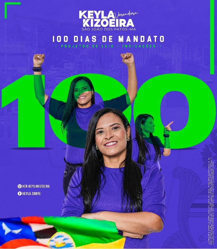 Vereadora Keyla Kizoeira apresentou 15 indicações e 6 projeto de lei