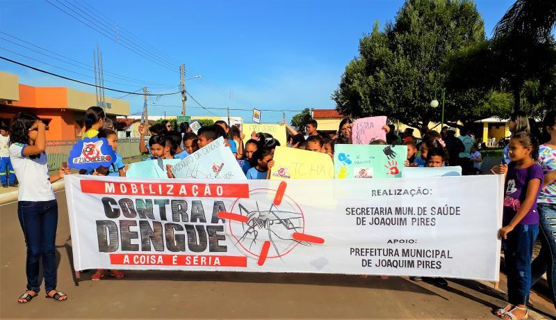 Secretaria de Saúde  de Joaquim Pires realiza caminhada contra dengue