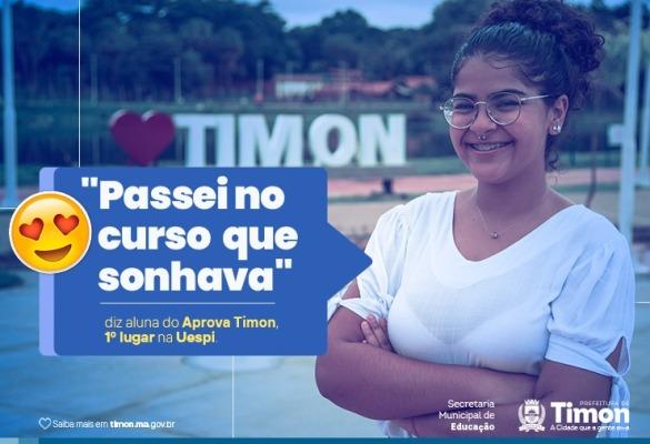 """""""Passei no curso que sonhava"""", diz aluna do Aprova Timon, 1º lugar na Uespi"""