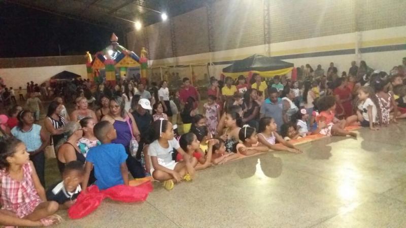 Prefeitura de Olho D'água realiza festa em homenagem ao Dia das Crianças