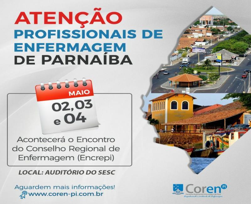 COREN-PI realizará em Parnaíba o ENCREPI - Encontro do Conselho Regional de Enfermagem