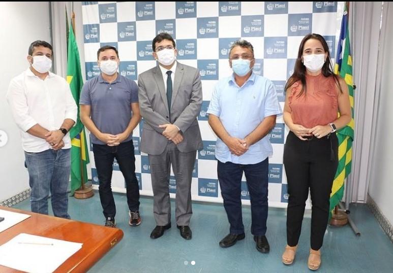 Rafael Fontelles, Vereadores, Dudu, Euzuila, Deolindo, e deputado Fábio Novo