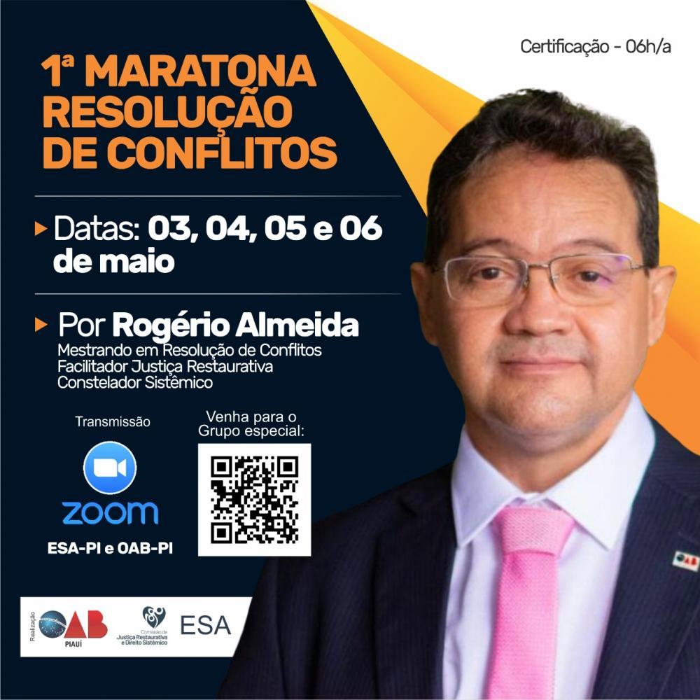 1ª Maratona Resolução de Conflitos será realizada na próxima semana