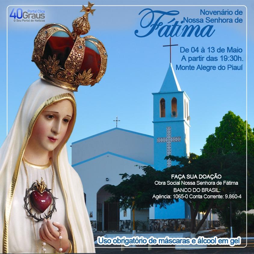 Celebrações em honra de Nossa Senhora de Fátima iniciam nesta terça-feira 4