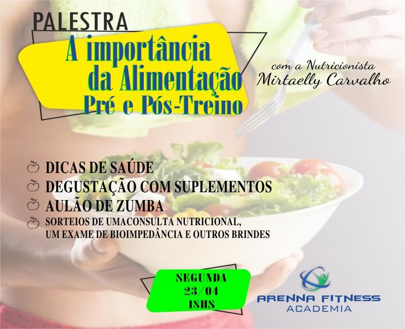 Arenna Fitness Academia promove palestra sobre alimentação com nutricionista