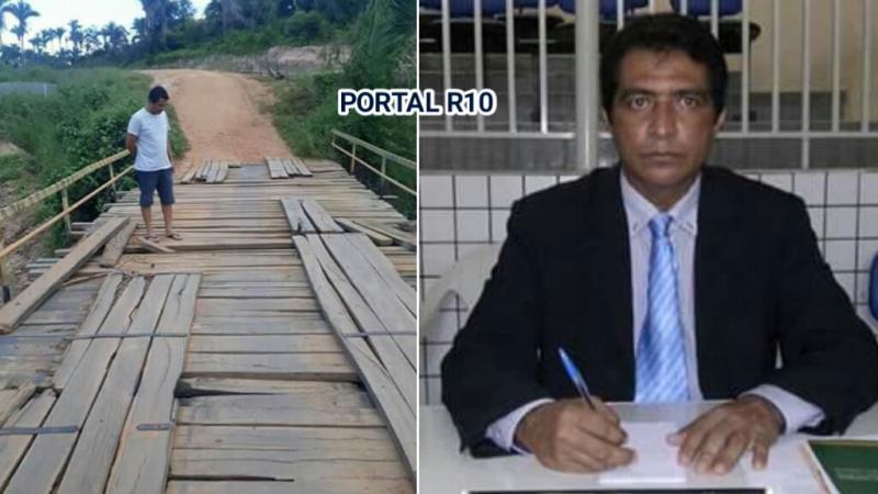 Vereador de São Francisco do Maranhão, solicita audiência para falar sobre reforma da ponte