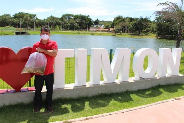 Lagoa do Parque Ambiental Sucupira recebe 3.500 alevinos