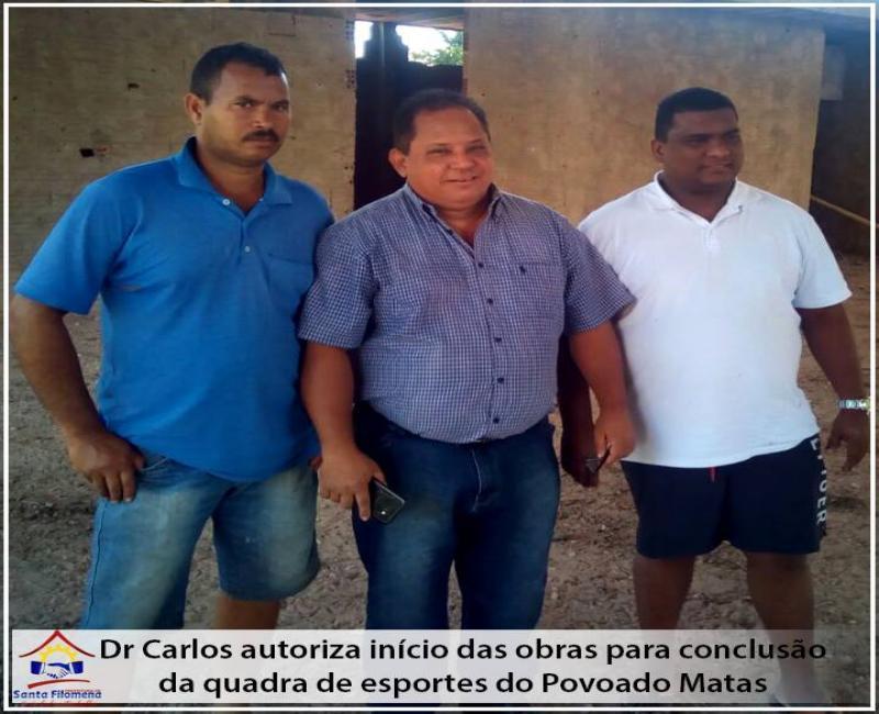 Prefeito de Santa Filomena autoriza reinicio de obra no Povoado Matas