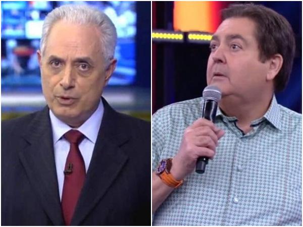 Faustão manda recado para William Waack na Globo e atitude repercute na internet