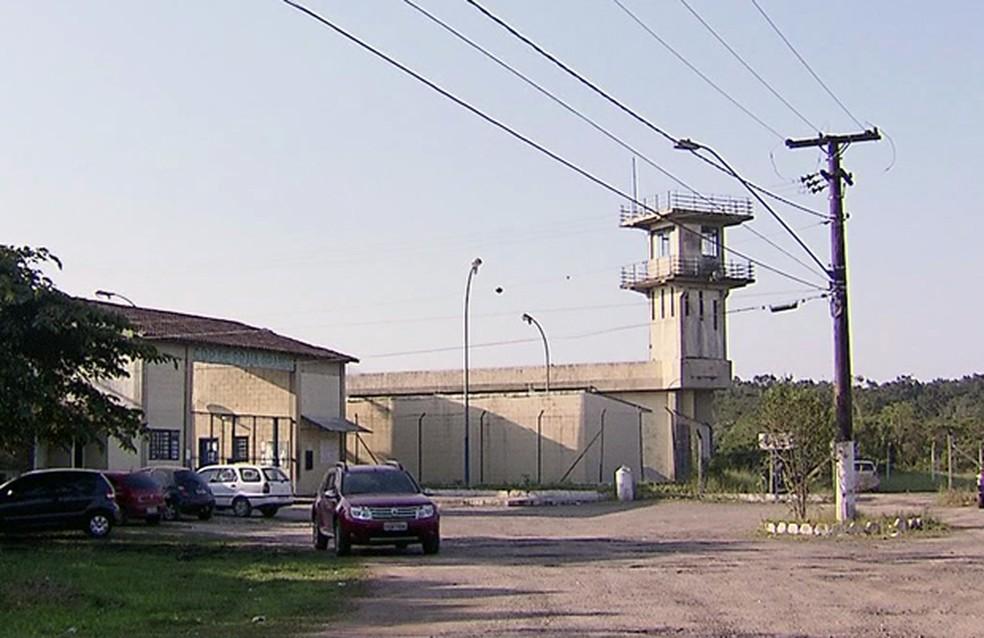Centro de Detenção Provisória de Praia Grande, SP — Foto: Reprodução/TV Tribuna